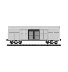 Boxcar with freight vector