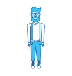 Blue icon body man vector