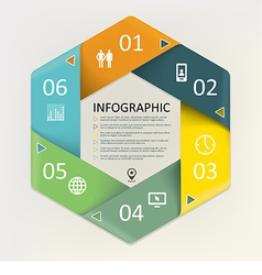 Infographic - six steps process vector