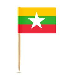 Flag of myanmar flag toothpick vector