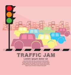 Traffic jam eps10 vector