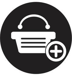 shopping basket vector image