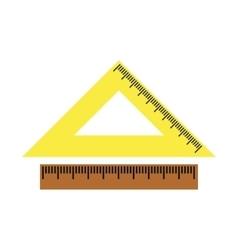 2 school rulers flat icon vector