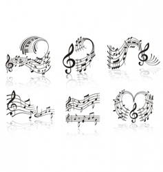Music note vector