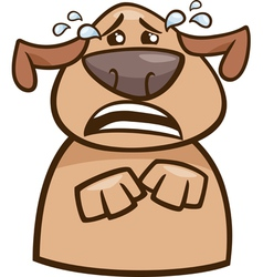 Crying dog cartoon vector