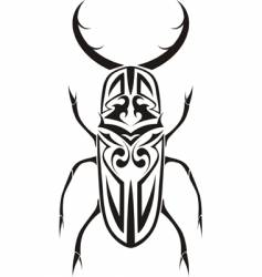 Tribal stag beetle tattoo vector