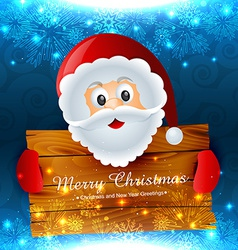 Santa claus wishing christmas vector