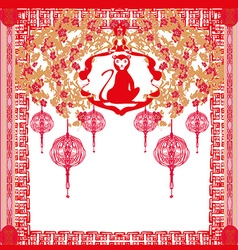 Chinese zodiac signs monkey vector