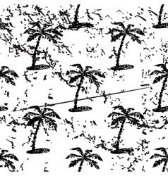 Palm tree pattern grunge monochrome vector image