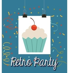 Retro party celebration vector