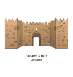 Damascus gate in jerusalem vector