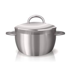 metal pan vector image