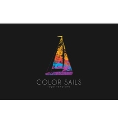 Sails logo color sails boat logo sailing logo vector