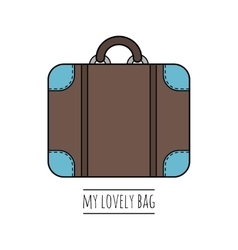 Suitcase isolated color flat icon object vector