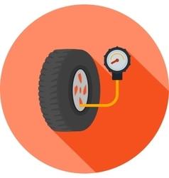 Tyre air pressure checker vector