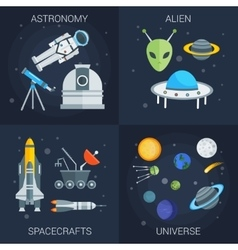 Space flat compositions vector