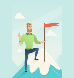 achievement of business goal vector image
