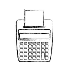 Calculator with paper printer vector