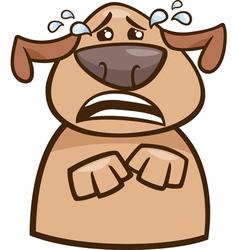 Crying dog cartoon vector