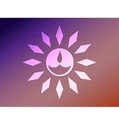 diwali style diya vector image