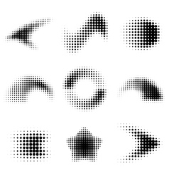 Dot gradient design elements vector image