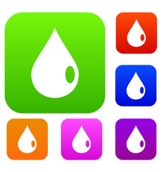 drop set color collection vector image