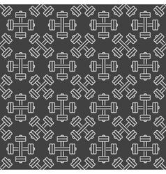 Dumbbell dark seamless pattern vector image