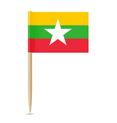 Flag of myanmar flag toothpick vector