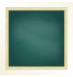 Green chalkboard with frame Design template vector image