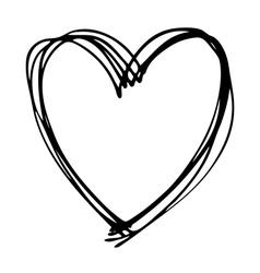 Heart doodle vector