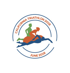 Icons for triathlon and other spot events vector