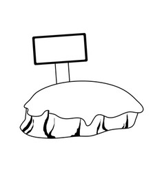 Isolated island icon image vector