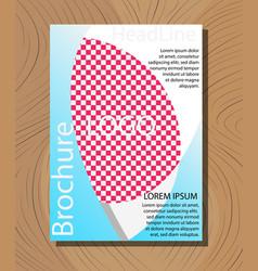 Medical brochure cover template flyer design vector