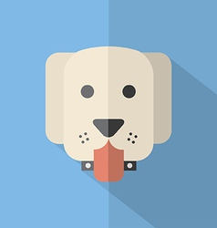 Modern Flat Design Dog Icon vector image