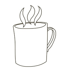 Mug with hot tea icon outline style vector image vector image