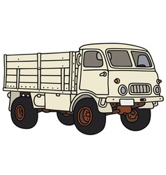 Old small terrain truck vector image vector image