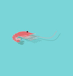 paper sticker on background of shrimp vector image