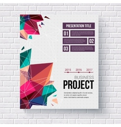 Presentation brochure template vector image