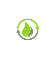 Recycle green leaf ecology logo vector