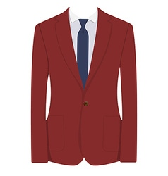 Red man suit vector image vector image