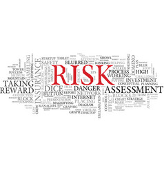 risk word cloud concept vector image vector image