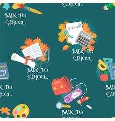 Seamless pattern on education theme vector