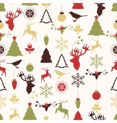 seamless pattern with Christmas and New years vector image