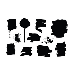 Set of black grunge brush strokes and splashes vector image vector image