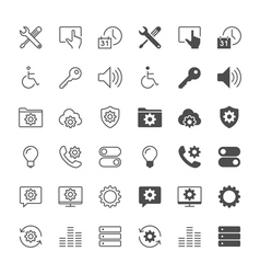 Setting icons vector