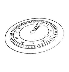 Sketch draw clock cartoon vector