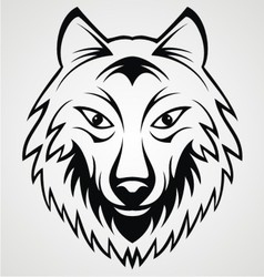 Wolf Head vector image vector image