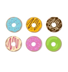 Donut set isolated on a light background vector