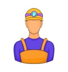 Male miner icon cartoon style vector
