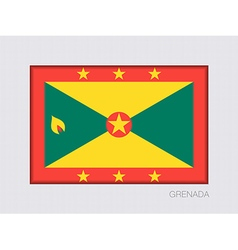 Flag of grenada official flag proportion of 2 to 3 vector